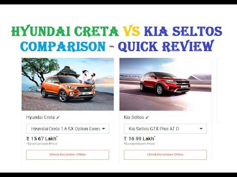 Hyundai Creta vs Kia Seltos Comparison - Complete specifications -Quick Review # 116