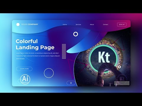 Landing Page - Abstract Background #8 - Clipping Mask - Adobe Illustrator Tutorial thumbnail