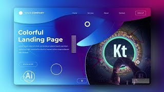 Landing Page - Abstract Background #8 - Clipping Mask - Adobe Illustrator Tutorial