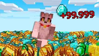 Paso Minecraft pero tu INVENTARIO se MULTIPLICA al hacerte DAÑO 😱 Invictor y Acenix