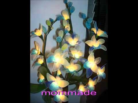 โคมไฟดอกไม้จากผ้าใยบัว mommade