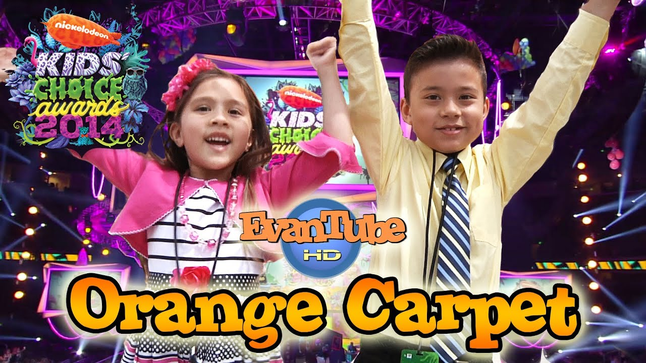 EvanTubeHD goes to the 2014 Nickelodeon KIDS' CHOICE AWARDS - Orange Carpet Interviews