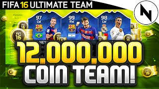 12,000,000 COIN SUPER TEAM! - FIFA 16 Ultimate Team - THE BEST TEAM IN FIFA #12 thumbnail