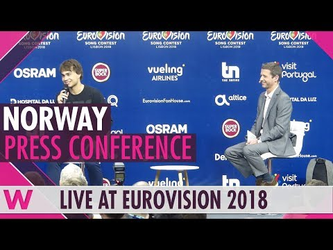 "Norway Press Conference: Alexander Rybak ""That's How You Write A Song"" @ Eurovision 2018"