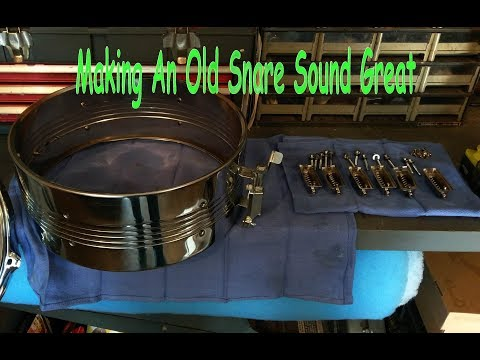 Making An Old Snare Drum Sound (and look) Great (the no-name snare)