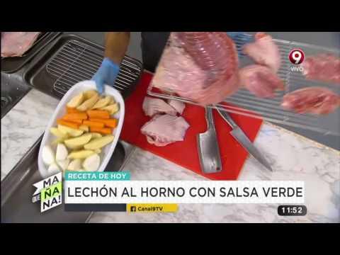 Receta de hoy lech n al horno con salsa verde y for Lechon al horno de cocina