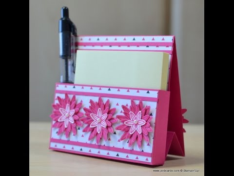 No.188 - Freestanding Post-It Note Holder - JanB UK Stampin' Up! Demonstrator Independent