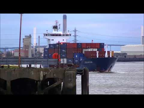 CONMAR ELBE Container Ship, 28/01/2018. Thames Shipping by R.A.S.