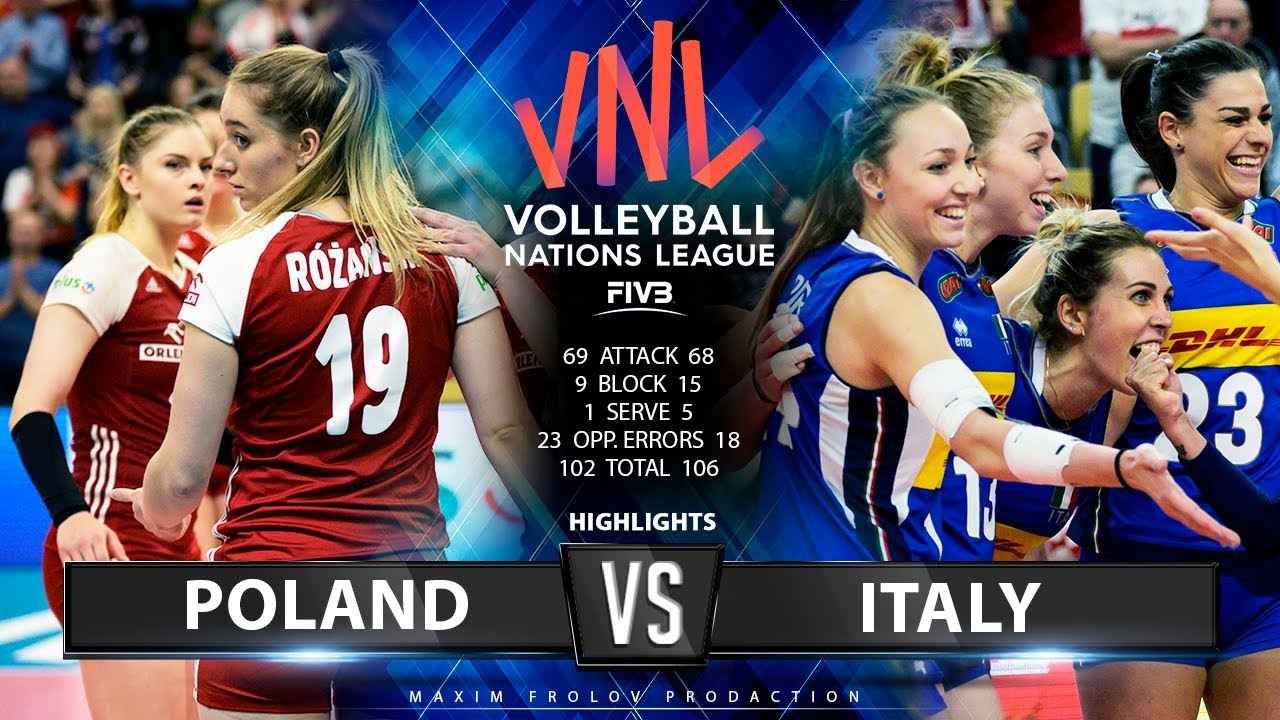 Poland vs. Italy | Highlights | Women's VNL 2019 - YouTube