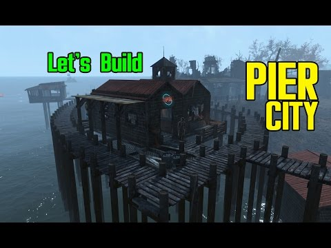 Fallout 4! Pier City! Let's Build A Settlement On The Water! - Ultrawide