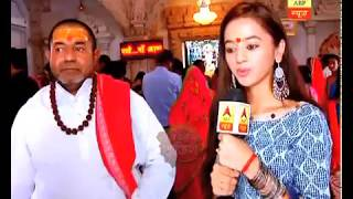 Helly Shah visits of Tripur Sundari temple of Udaipur with SBS