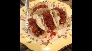 Easy Low Fat Vegan Tacos With Crunchy Corn Taco Shells