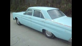 1965 Mercury Comet 202- Start up and drive-