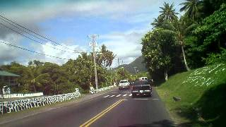 AMERICAN SAMOA - driving around town
