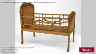 Bamboo Antique Baby Carriage/crib/cradle Bamboo Misc. Furnit