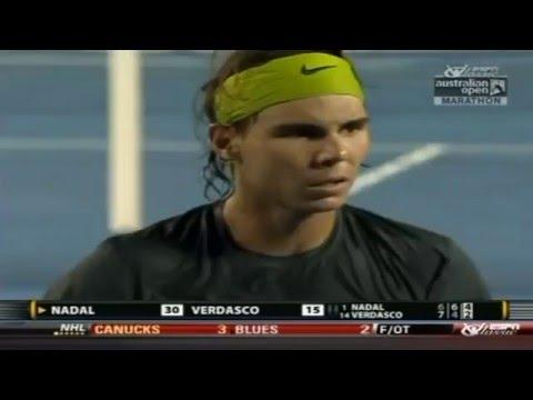 Nadal vs Verdasco - Australian Open 2009 Highlights- My favorite Nadal match ever