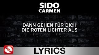 SIDO  CARMEN  AGGROTV LYRICS KARAOKE (OFFICIAL VERSION)
