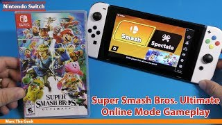 Super Smash Bros. Ultimate Online Mode Gameplay