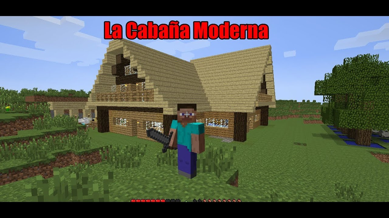 Minecraft la caba a moderna full hd youtube for La cabana divertida