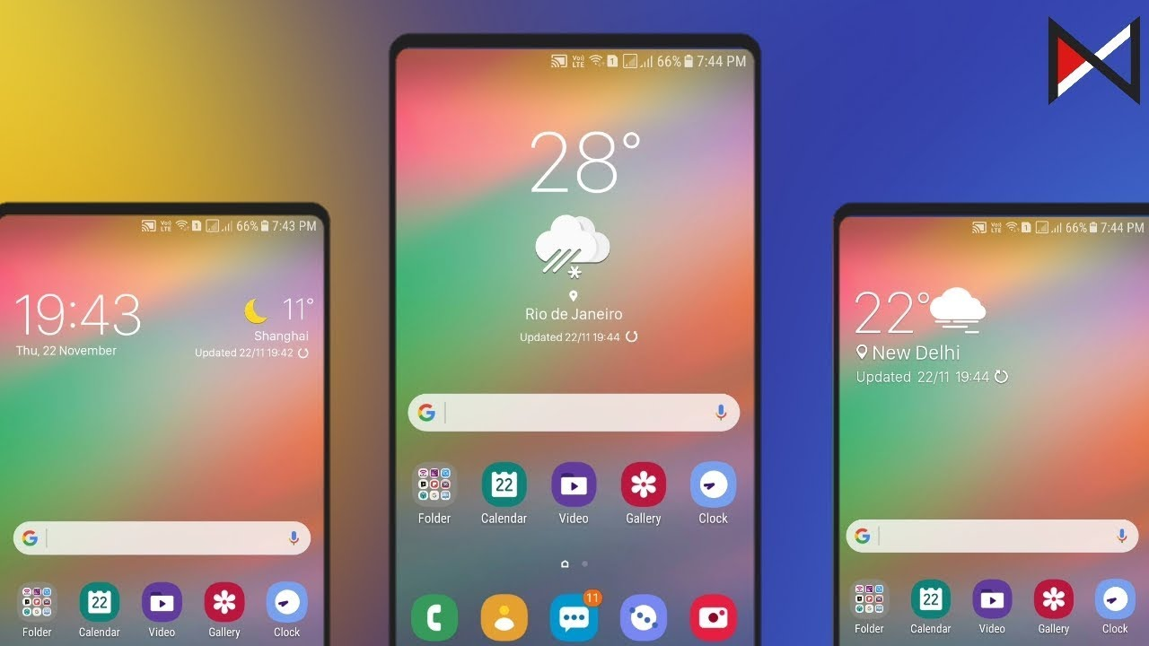 Samsung One Ui Weather Widgets | For All Android Devices(No Root)