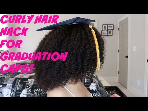How To Wear A Graduation Cap With Naturally Curly Hair