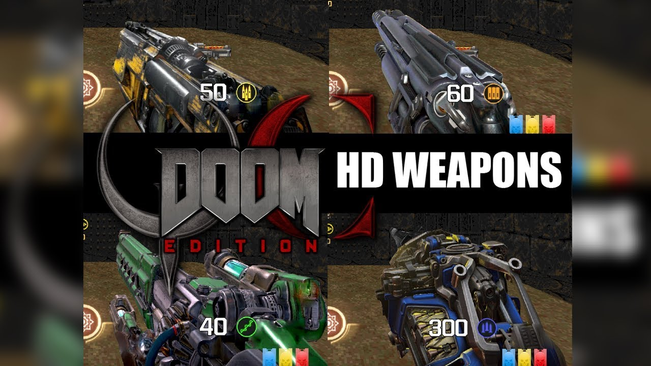 QUAKE CHAMPIONS DOOM WEAPONS HD - Addon Sprites for QCDE Mod - DOWNLOAD NOW!