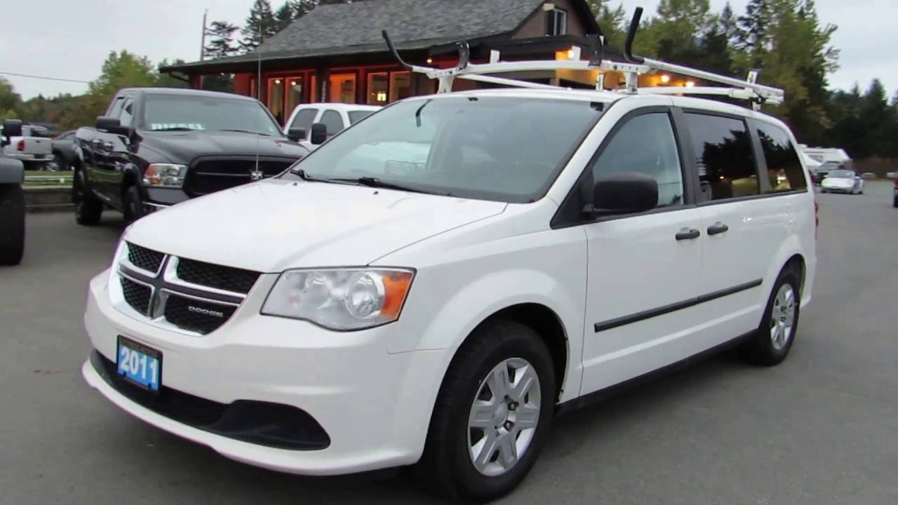 2011 Dodge Grand Caravan Cargo Van With Roof Racks At