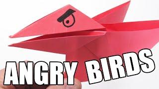 Como hacer un ANGRY BIRDS de papel Super Cool!