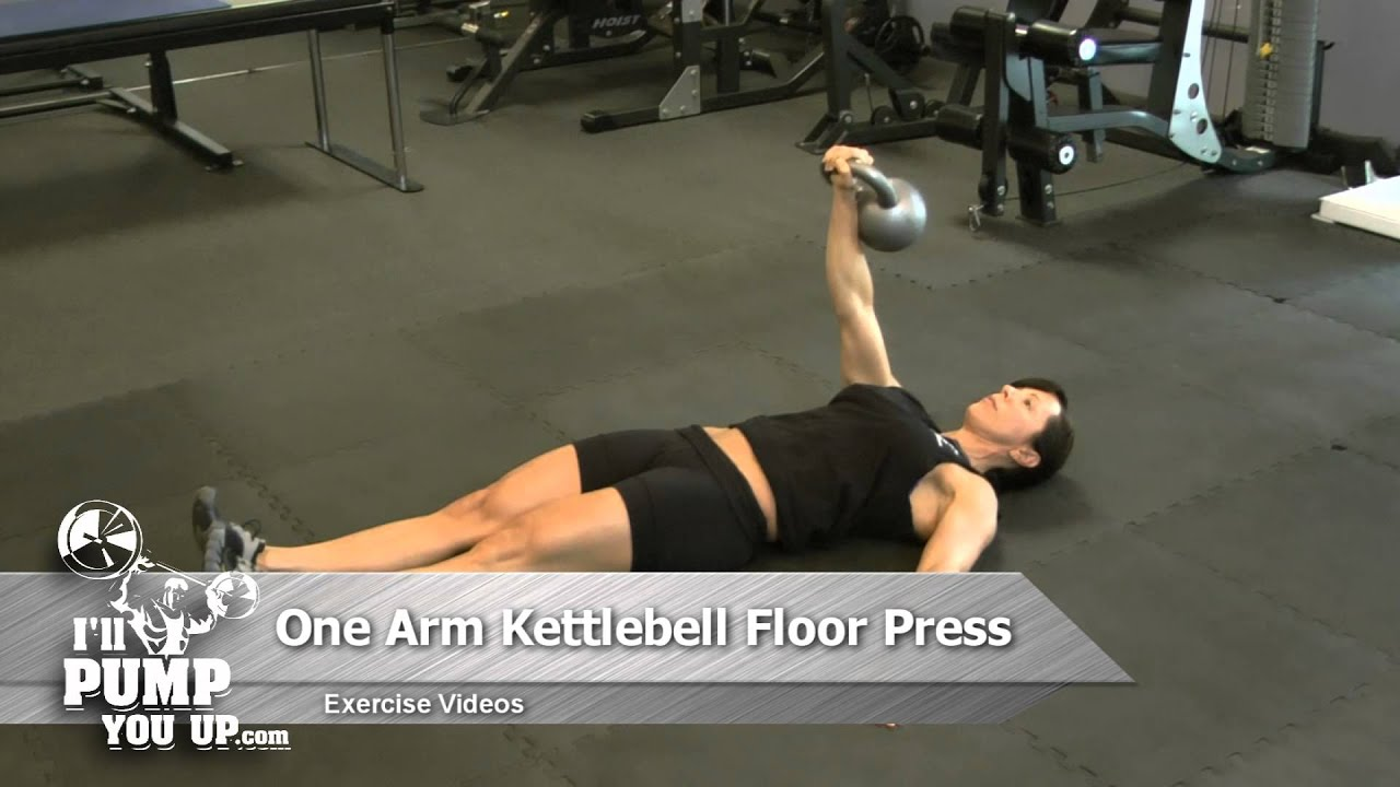 One Arm Kettlebell Floor Press   How To   YouTube