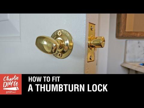 How To Fit A Bathroom Closet Door Lock Youtube