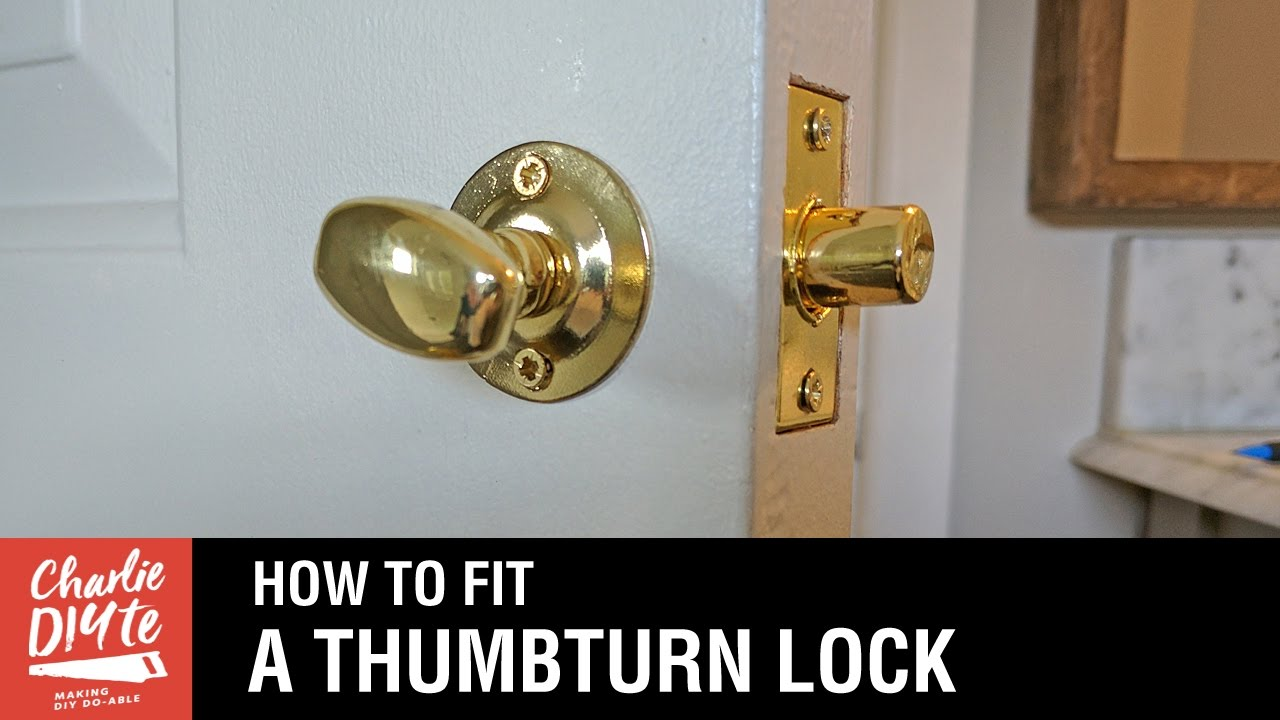 How to fit a bathroom closet door lock youtube - Installing a lock on a bedroom door ...