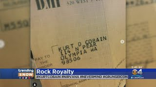 Trending Now: Record Store Finds Decades-Old Royalty Check Made Out To Late Nirvana Frontman Kurt Co