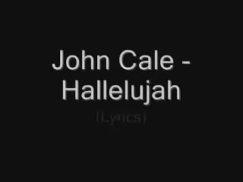Hallelujah John Cale version with lyrics