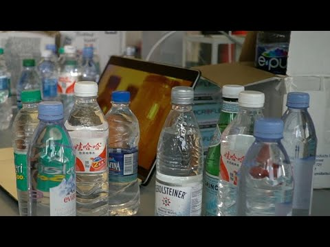 Plastic particles found in many popular brands of bottled water