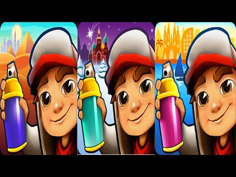 Subway Surfers Cairo vs Subway Surfers Saint Petersburg vs Subway Surfers Barcelona 2018