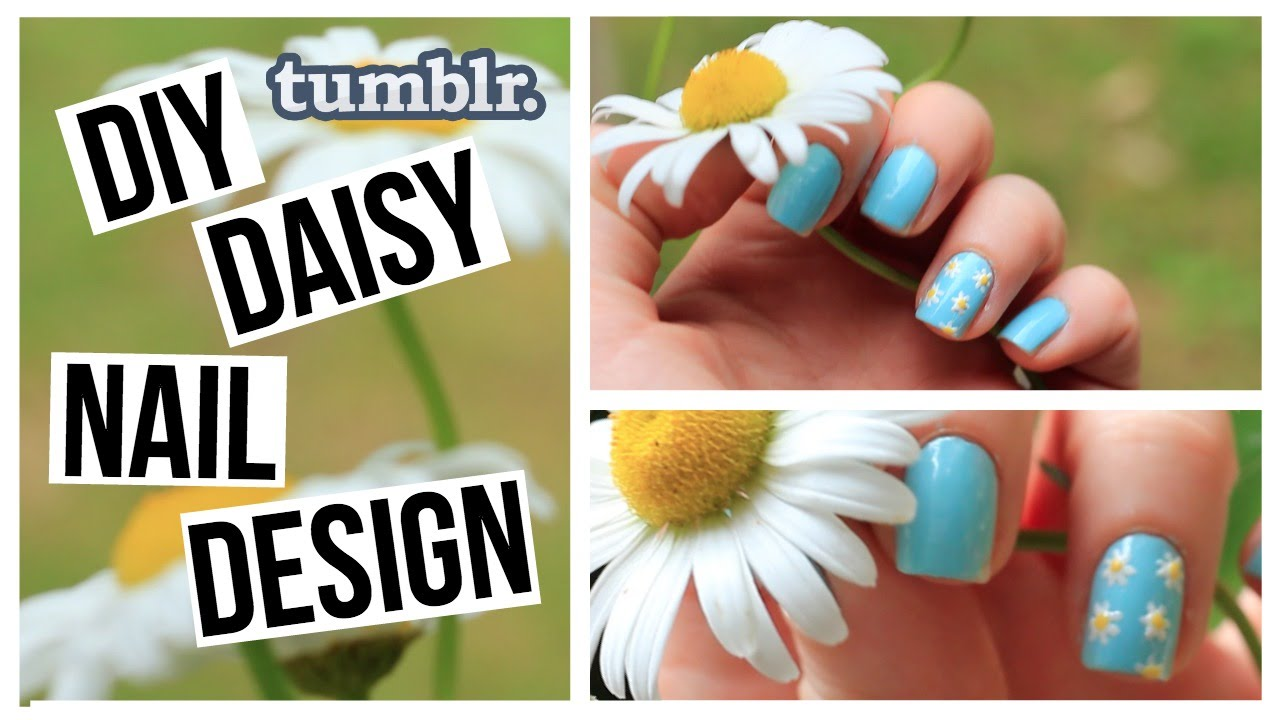 DIY Summer Tumblr Daisy Nail Design   Dana Jean - YouTube