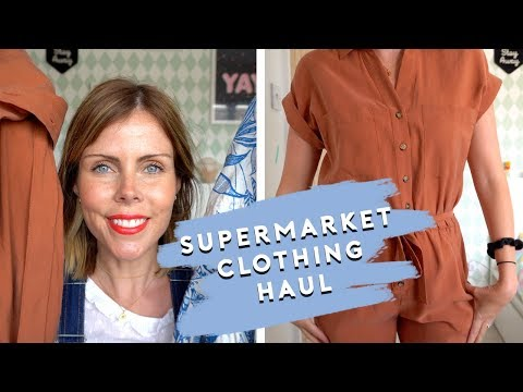 SUPERMARKET CLOTHING HAUL AND TRY ON - F&F AT TESCO