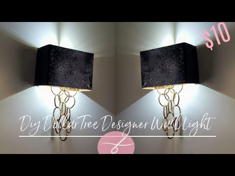 DIY Dollar Tree Glam Wall Light – DIY Elegant Wall Sconce – Wall Lamp – Home Decor DIY – Unique $10