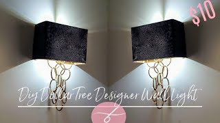 DIY Dollar Tree Glam Wall Light - DIY Elegant Wall Sconce - Wall Lamp - Home Decor DIY - Unique $10