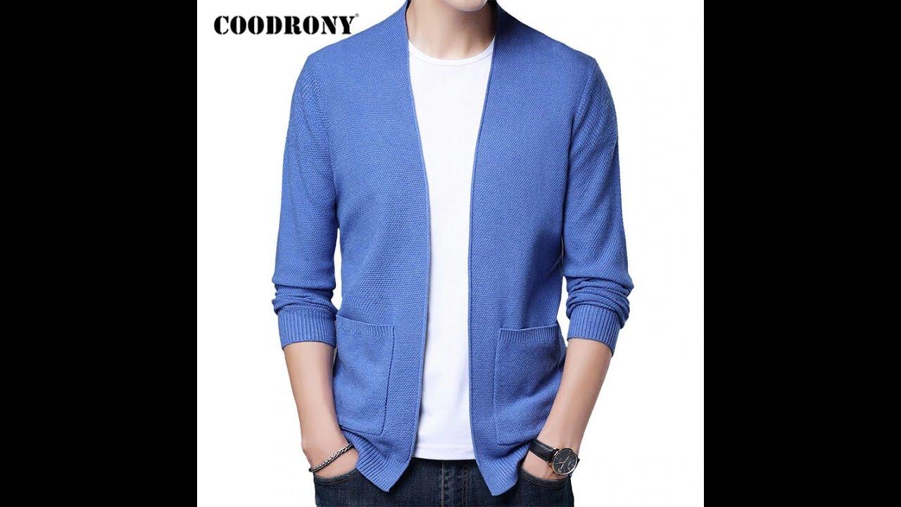 Coodrony бренд кардиган мужская одежда 2020 осень зима уличная мода свитер мужской толстый теплый