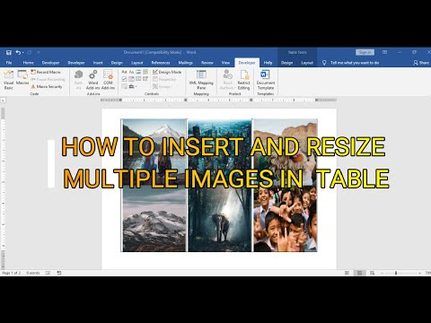 How to insert and resize images into word document table |Microsoft word tutorial