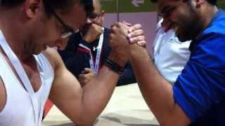 Pancha Gusthi Arm wrestling by Jaleel Villiappally Kozhikode Kerela India at Dubai, UAE