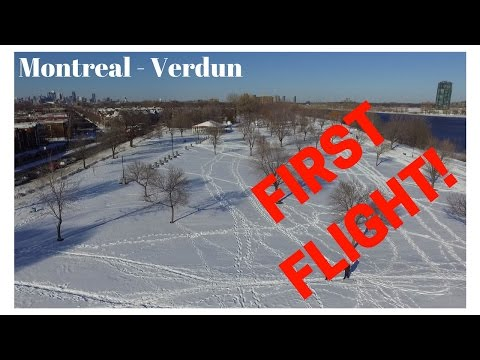 Drone view - First flight - Fast editing - Montreal, QC