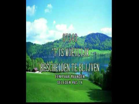 Peter Blanker -  Is moeilijk bescheiden te blijven ( KARAOKE ) Lyrics