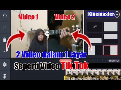 Cara Menggabungkan 2 Video Dalam 1 Layar Tutorial Kinemaster Youtube