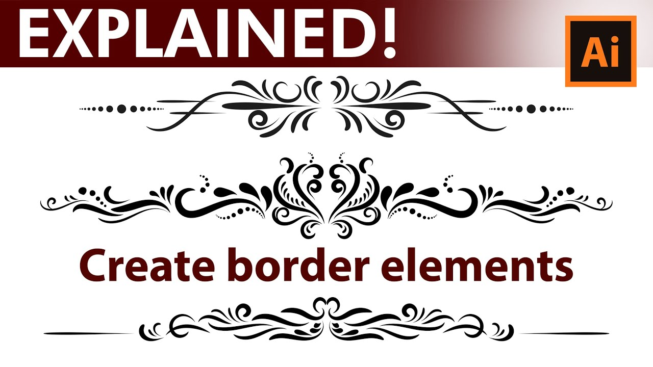 adobe illustrator tutorial how to design vintage border elements