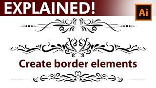 Adobe Illustrator Tutorial - How to Design Vintage Border Elements