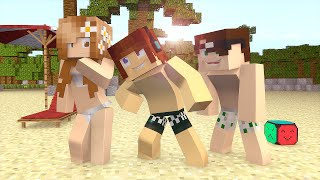 Minecraft : Fomos Para a PRAIA !!  (Build Battle)