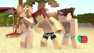 Minecraft : Fomos Para a PRAIA !!  (Build Battle)