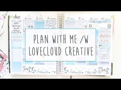 Plan With Me in my Erin Condren Life Planner ft LoveCloud Creative